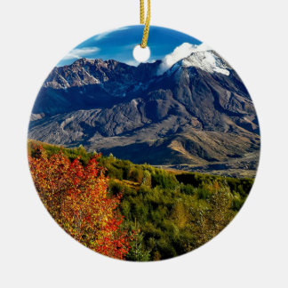 Mount Saint Helens, Washington Christmas Ornament