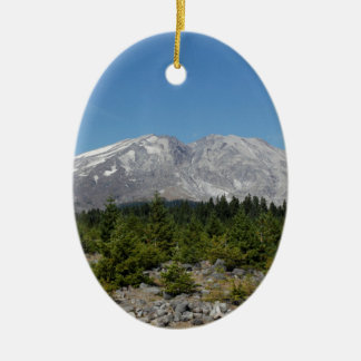 Mount Saint Helens wide angle early summer Ceramic Oval Decoration