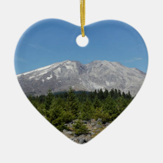 Mount Saint Helens wide angle early summer Christmas Ornaments