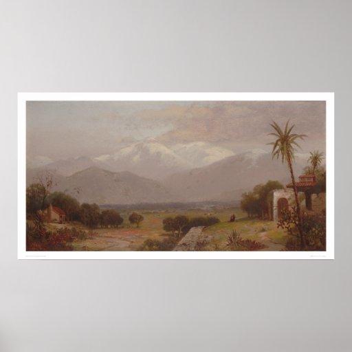 Mount San Bernardino from the Mission Ruins (1232) Print