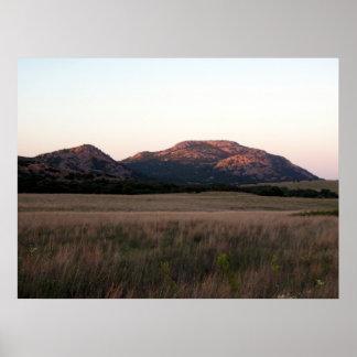 Mount Scott in Wichita Mountains Wildlife Refuge Poster