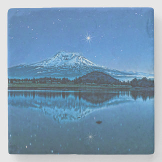 MOUNT SHASTA BY STARLIGHT STONE COASTER