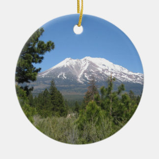 Mount Shasta California Christmas Ornament