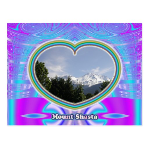 Mount Shasta Heart postcard