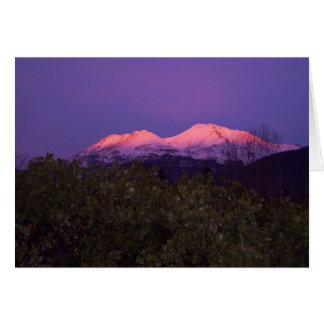 Mount Shasta Sunset Card