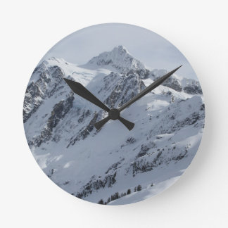 Mount Shuksan 2 Round Clock