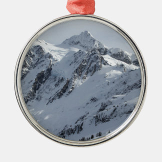 Mount Shuksan 2 Silver-Colored Round Decoration