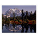 Mount Shuksan Reflection Poster