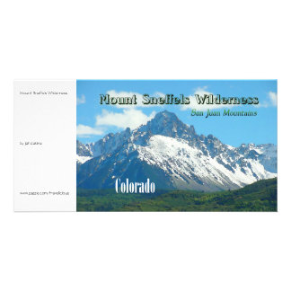Mount Sneffels Wilderness Vintage Style Customized Photo Card