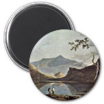 Mount Snowdon From Llyn Nantlle Seen By Wilson Ric Refrigerator Magnets