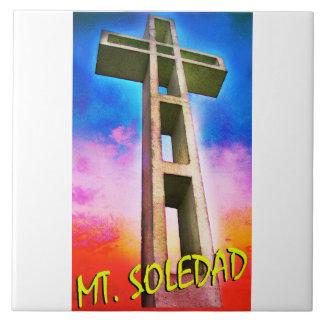 Mount Soledad Cross #1 Large Square Tile