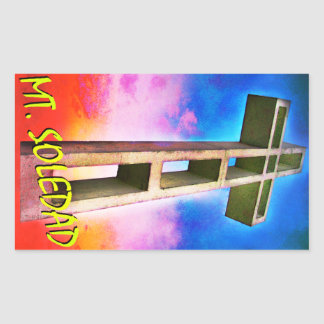 Mount Soledad Cross #1 Rectangular Sticker