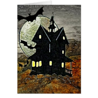 Mount Spooky Haunted Horror Art BLANK Stationary Note Card