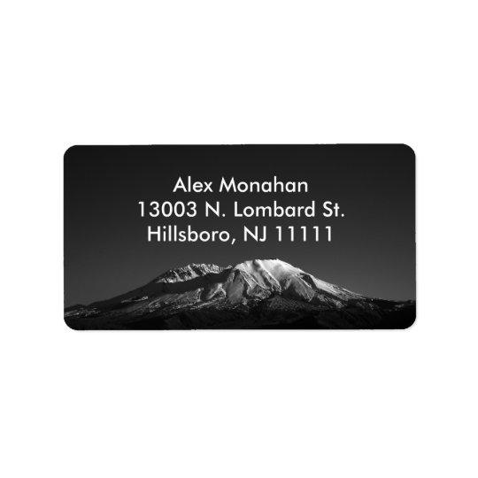 Mount St. Helens in Monochrome Custom Address Labe