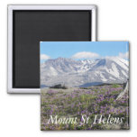 Mount St Helens Square Magnet