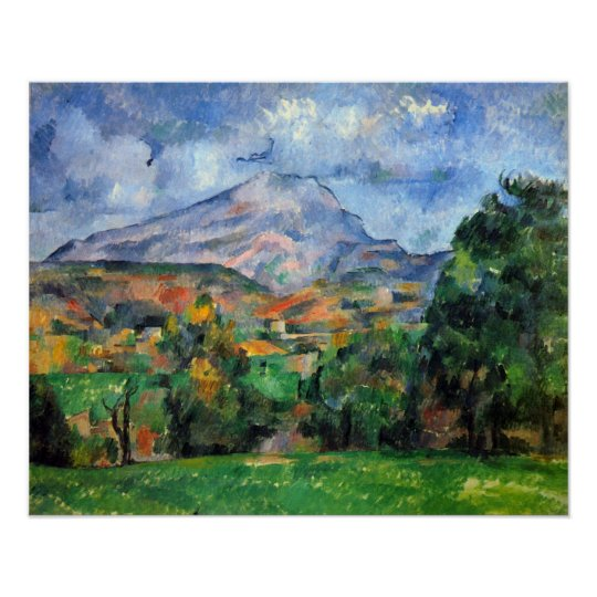 Mount St. Victoire by Paul Cezanne Poster
