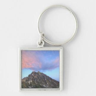Mount Stuart, at sunset Silver-Colored Square Key Ring