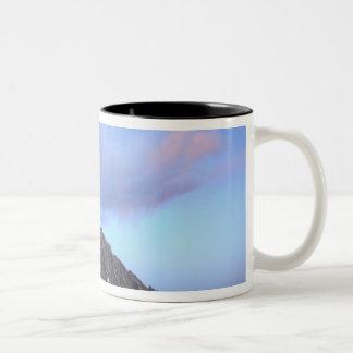 Mount Stuart, at sunset Two-Tone Coffee Mug