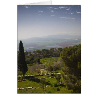 Mount Tabor, site of biblical transfiguration Card