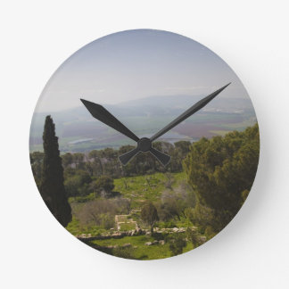 Mount Tabor, site of biblical transfiguration Wall Clocks