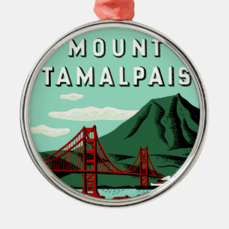 Mount Tamalpais Travel Poster Christmas Ornament