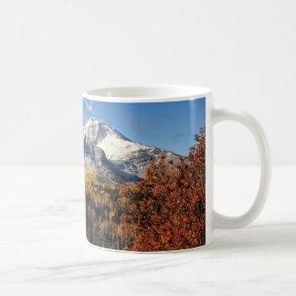 Mount Timpanogos in Autumn Utah Mountains Basic White Mug