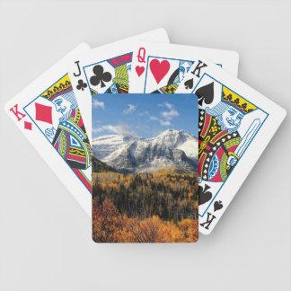 Mount Timpanogos in Autumn Utah Mountains Bicycle Poker Deck