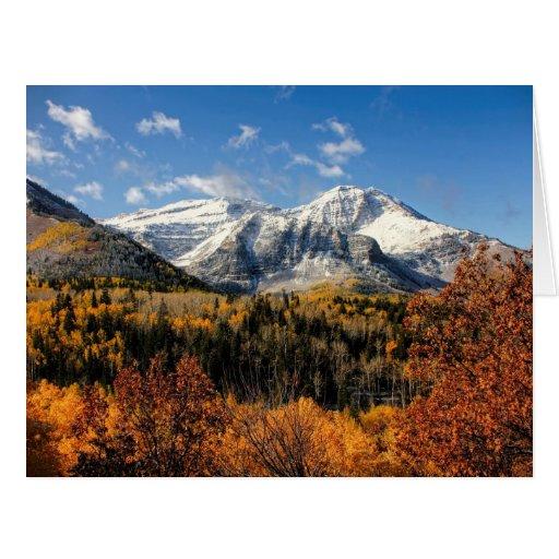 Mount Timpanogos in Autumn Utah Mountains Greeting Card