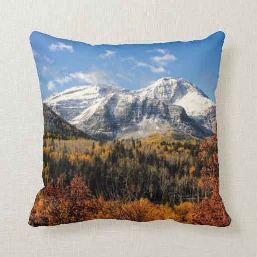 Mount Timpanogos in Autumn Utah Mountains Throw Pillow