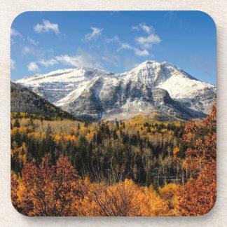 Mount Timpanogos in Autumn Utah Mountains Drink Coaster