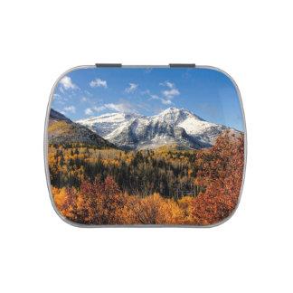 Mount Timpanogos in Autumn Utah Mountains Jelly Belly Tins