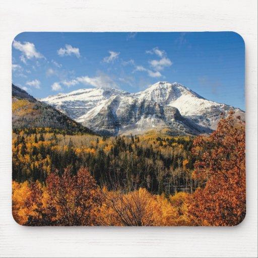 Mount Timpanogos in Autumn Utah Mountains Mouse Pads