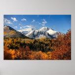 Mount Timpanogos in Autumn Utah Mountains Poster