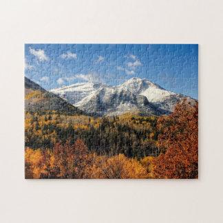 Mount Timpanogos in Autumn Utah Mountains Puzzles