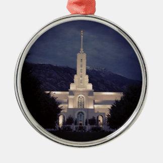 Mount Timpanogos LDS Temple, American Fork, Utah Christmas Ornament