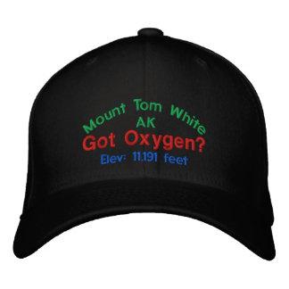 Mount Tom White Alaska Elevation Cap Embroidered Hats