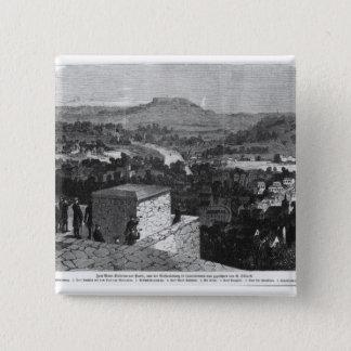 Mount Valerien seen from Louveciennes 15 Cm Square Badge