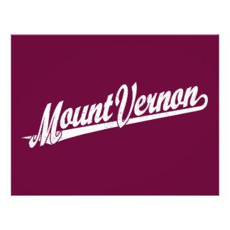 Mount Vernon script logo in white distressed 21.5 Cm X 28 Cm Flyer