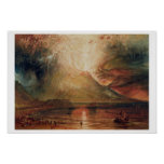 Mount Vesuvius in Eruption, 1817 (w/c on paper) Poster