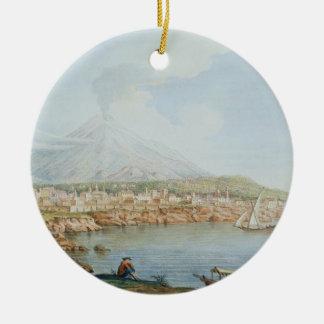 Mount Vesuvius, plate 36 from 'Campi Phlegraei: Ob Round Ceramic Decoration