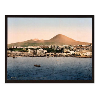 Mount Vesuvius, with Torre de Creco, Naples, Italy Postcard