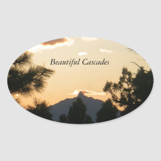 Mount Washington At Sunset Oval Stickers