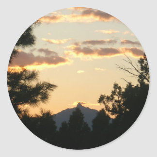 Mount Washington At Sunset Round Sticker