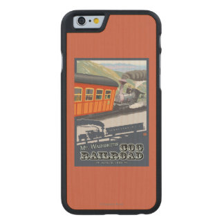 Mount Washington, New HampshireCog Railroad Carved Maple iPhone 6 Case