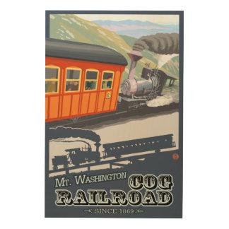 Mount Washington, New HampshireCog Railroad Wood Wall Art
