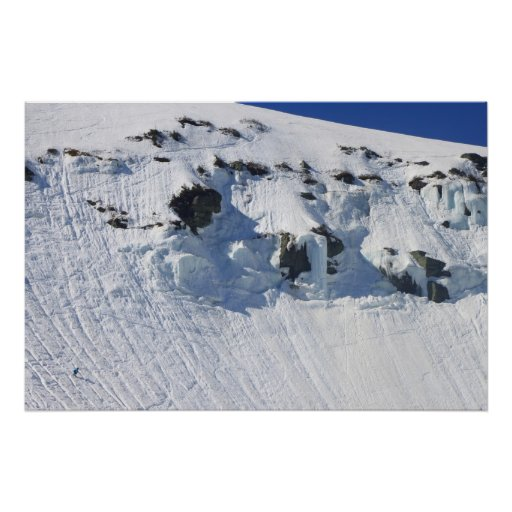 Mount Washington Tuckermans Ravine Skiier Poster