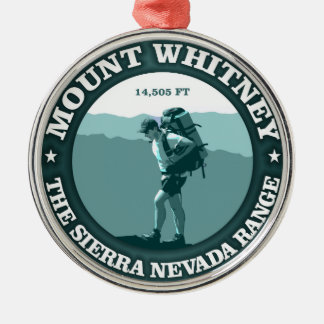 Mount Whitney Silver-Colored Round Decoration