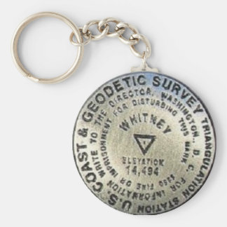 Mount Whitney Summit Benchmark Key Ring