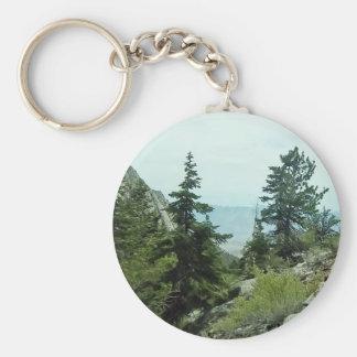 Mount Whitney Trail View Keychain #5 Basic Round Button Keychain