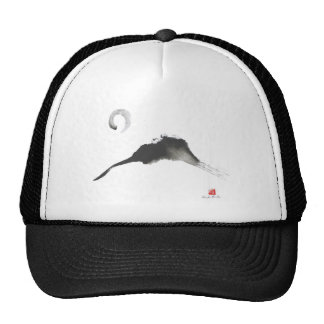 Mountain, a Sumi-e Mesh Hat